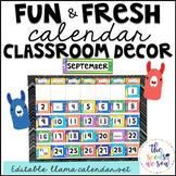 Llama Classroom Decor: Calendar Set
