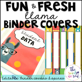 Llama Classroom Decor: Editable Binder Covers and Spines