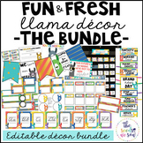 Llama Classroom Decor: The Bundle