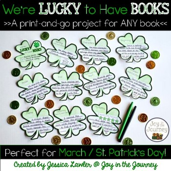 March St. Patrick's Day Book Project for ANY Book