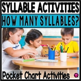 SYLLABLES Pocket Chart Activities for Kindergarten and First Grade