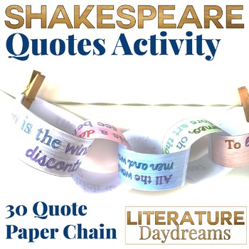 Shakespeare Famous Phrases Activity