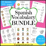 Preschool Spanish Vocabulary Bundle