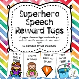 Superhero Speech Brag Tags (Editable Options Included)