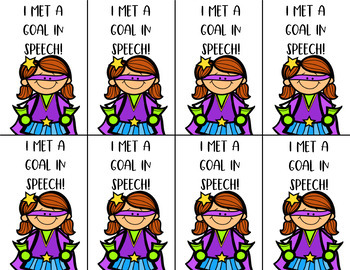 Superhero Speech Brag Tags (Editable Options Included)