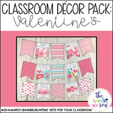 Valentine's Day Classroom Decor Banner Pack