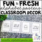 Farmhouse Classroom Decor: Alphabet Posters