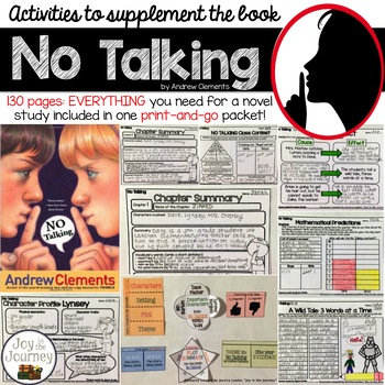 No Talking Novel Study