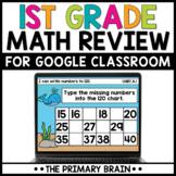 Digital First Grade Math Review for Google Slides