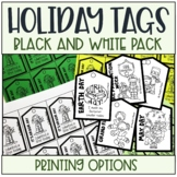 Holiday Reward Tags Black and White Pack
