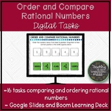 Compare and Order Rational Numbers Google Slides & Boom Le