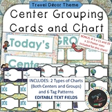 Travel Theme Center Grouping Cards and Chart