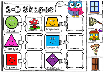 2d shapes cut and paste