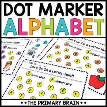 Dot Marker Uppercase and Lowercase Letter Worksheets