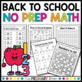 Back to School Math NO PREP Worksheet Pack
