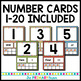 Beach Themed Number Card Posters from 1-20