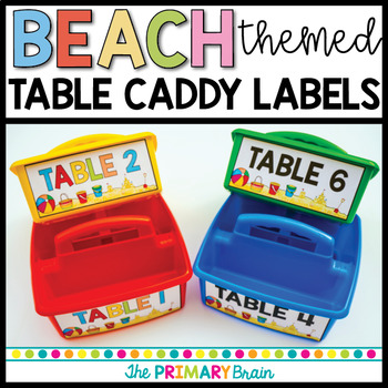 Beach Themed Table Caddy Labels