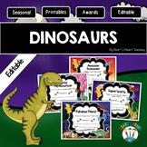 Dinosaur Themed Class Awards for the End of the Year {EDITABLE}