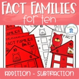 Fact Families for 10 Worksheets and Activities