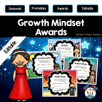 Growth Mindset End of the Year Awards   Famous People Awards {EDITABLE}