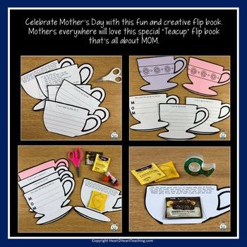 Happy Mother's Day Teacup Flip Booklet