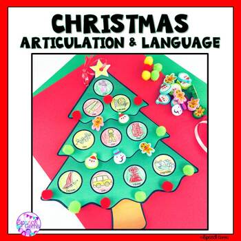 No Prep Articulation and Language Christmas Tree Craft