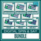 No Prep Digital Speech and Language Spin & Say BUNDLE