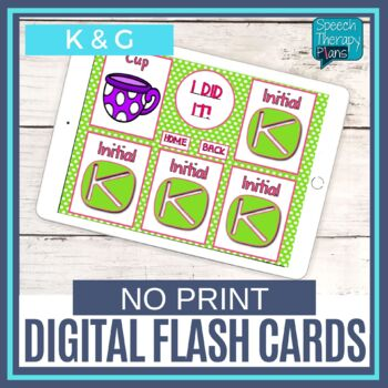No Print Articulation Flash Cards - K & G