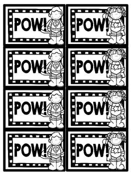POW!  Short A Fluency Game