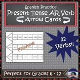 Spanish AR Verb Practice Game - Arrow Cards
