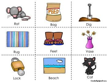 Phonemic Awareness Smash Mats Game: Phoneme and Syllable segmentation