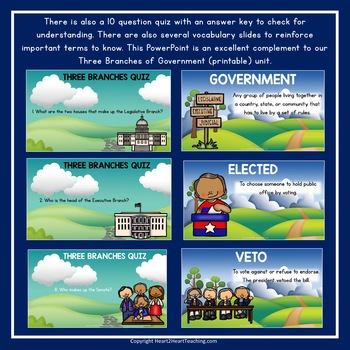 Three Branches of Government PowerPoint