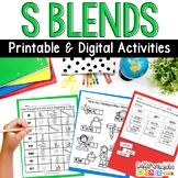 S blends  Worksheets Pack {beginning and ending}