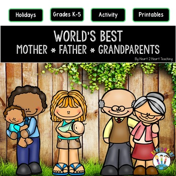 World's Best Mother, Father, Grandparents Flip Books {Set of 3}