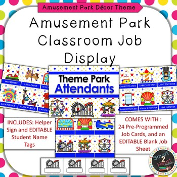 Amusement Park Theme Classroom Job Helper Display