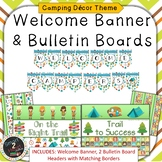 Camping Theme Welcome Banner & Bulletin Boards