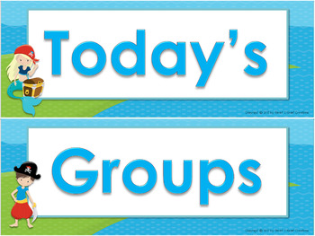 Pirate Center Grouping Cards and Chart