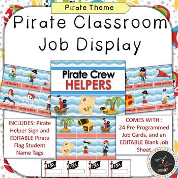 Pirate Classroom Job Helper Display