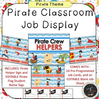 Pirate Classroom Job Helper Display