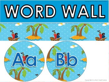 Pirate Word Wall and Word Cards Set
