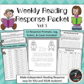 Weekly Reading Response Packet - Vol 1