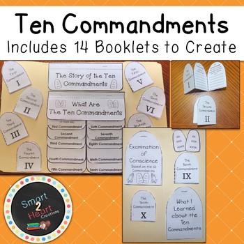 Ten Commandments Lapbook - Interactive Notebook - Catholic