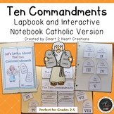 Ten Commandments Lapbook - Interactive Notebook - Catholic