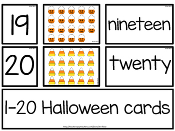 Halloween Math: Matching Number Word Cards/Puzzles