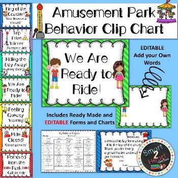 Amusement Park Behavior Clip Chart
