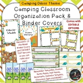 Camping Themed Binder Covers and Classroom Organization Pack
