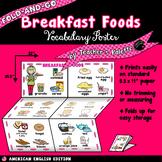 ESL/ELL Foods Vocabulary Poster—Breakfast Foods