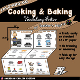ESL/ELL Foods Vocabulary Poster—Cooking & Baking