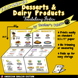 ESL/ELL Foods Vocabulary Poster—Desserts & Dairy Products