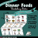 ESL/ELL Foods Vocabulary Poster—Dinner Foods